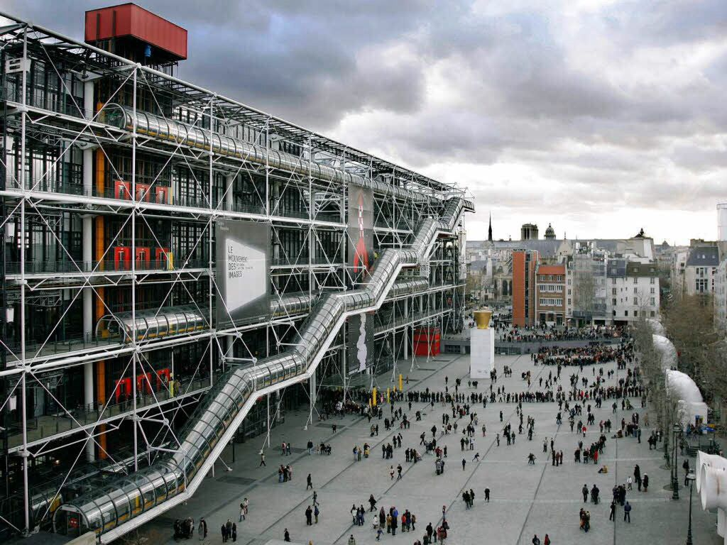 Museo Pompidou.Pompidou Centre By Rogers Piano High Tech Architecture France