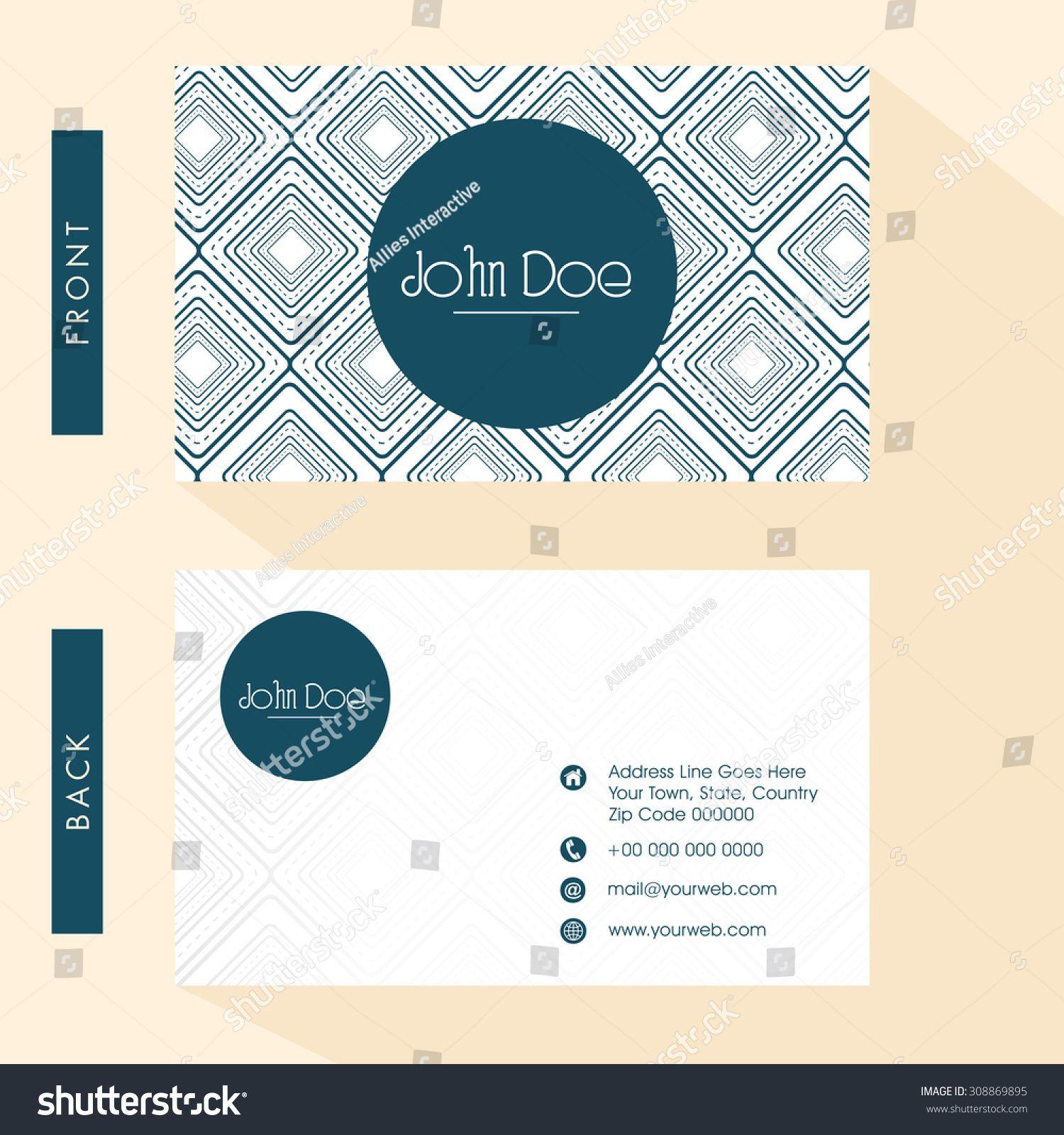 Kostenlose Visitenkarten Vorder Und Rückseite Plus Adobe