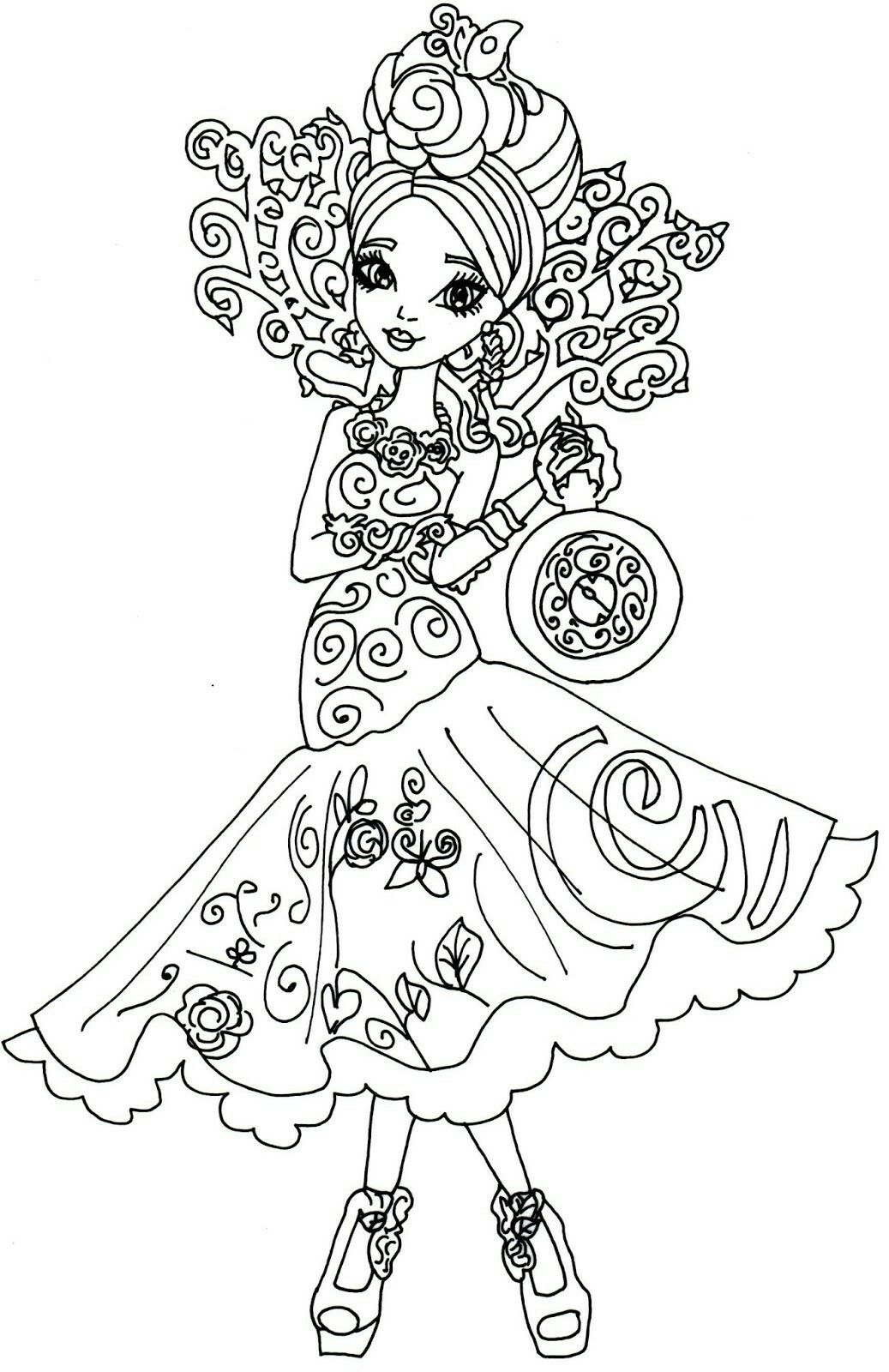 Free Printable Ever After High Coloring Pages: Lizzie Hearts and ...