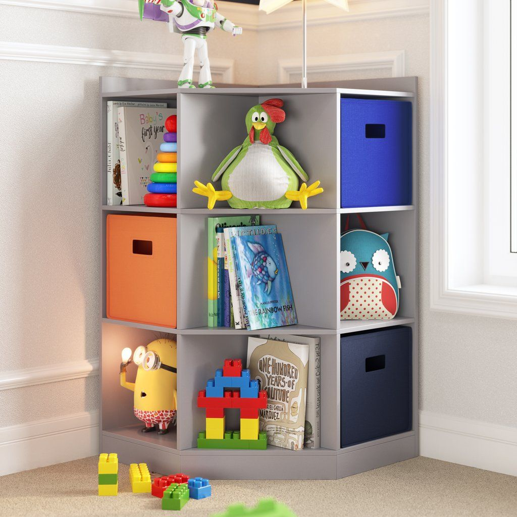 Kids Corner Storage Cabinet With Cubbies Shelves Riverridge