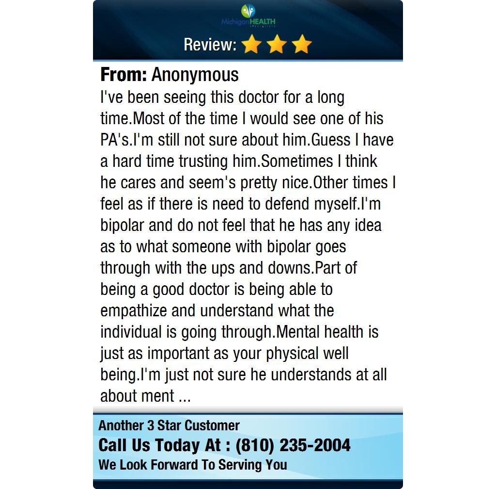 I've been seeing this doctor for a long time.Most of the time I would see one of his...