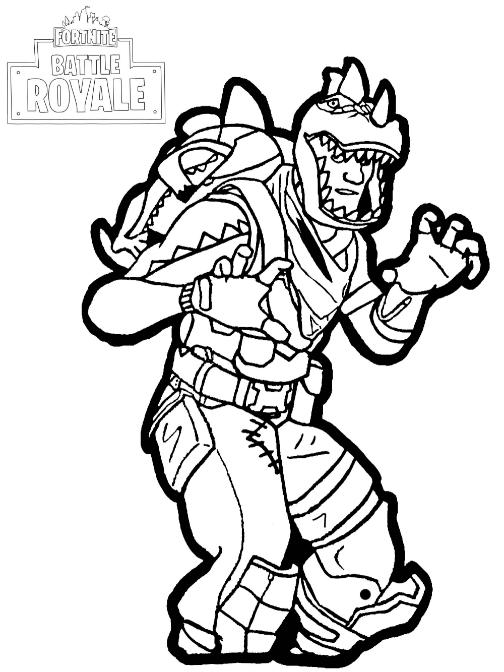 Fortnite Shark Coloring Pages Images