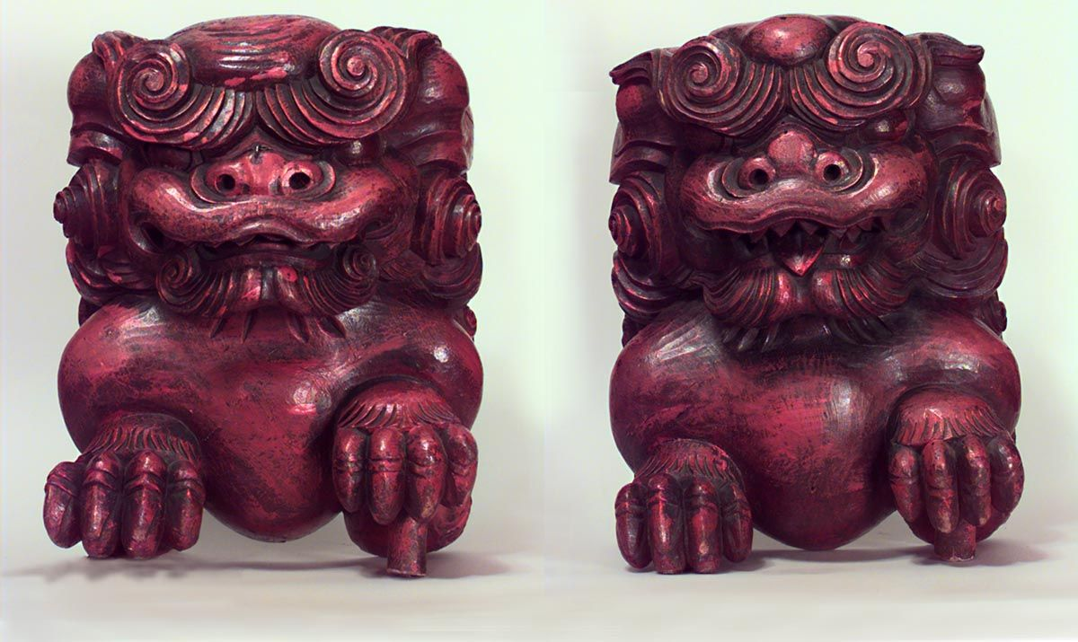 Asian Chinese figure small figure lacquer