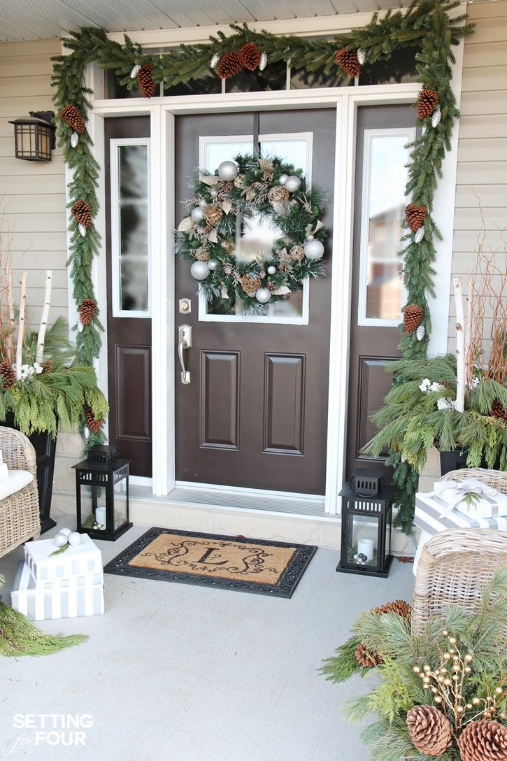 10 Minute Holiday Home Decor Idea Learn How To Decorate Lanterns For Christmas I Display Mine On My Porch