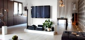 Open Space For Small Apartment Salotti Minimalisti Soggiorno