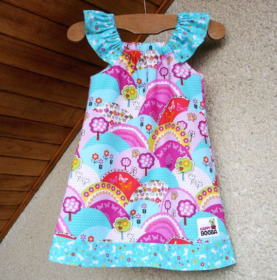 Happy Hills BABY GIRL DRESS for your little cutie by happybooba, $30.00