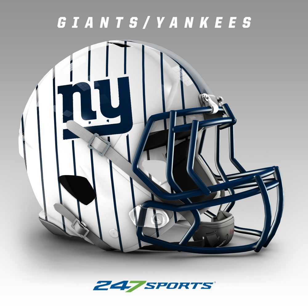 Combining Nfl Helmets With Local Pro Sports Teams Colors Ny