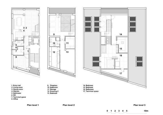 Floor Plans Of The All Three Floors Of The Attic Apartment Loft Apartment Designs Apartment Layout Modern Loft