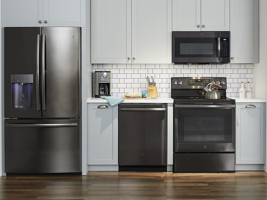 Make A Statement In Any Kitchen With Black Stainless Finish At Best Buy Stainless Steel Kitchen Appliances Black Stainless Steel Appliances Black Appliances Kitchen