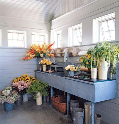 Martha Stewart's flower-arranging room.