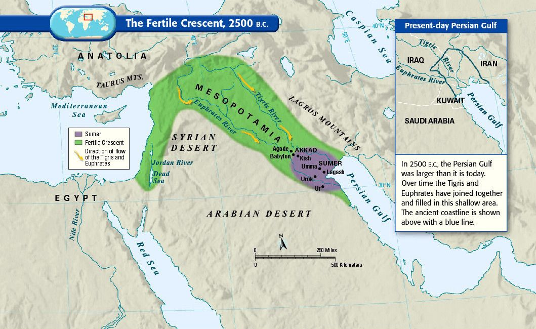 Maps for helping to understand Middle East