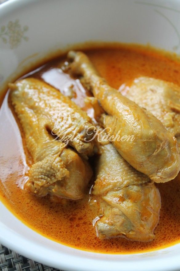 Azie Kitchen Kari Ayam Kampung Yang Sedap Makanan Dan Minuman Resep Ayam Kari Masakan