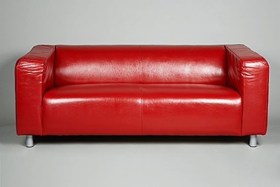Lovely Small Red Leather Sofas For Vibrant Small Living Area In 2017