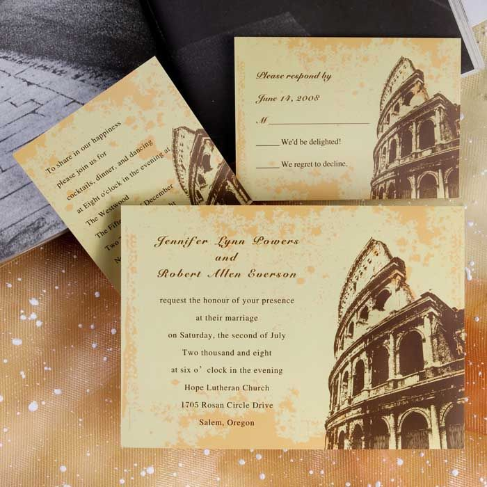 Image result for roman wedding invitations Image