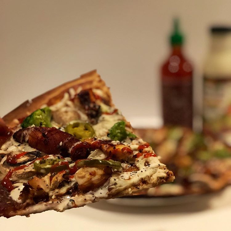 F0 9f 8d 95bbq Chicken Broccoli Ranch Pizza F0 9f A5 A6  E2 80 A2 Dollar Store Low Calorie Thin Crust Is Awesome