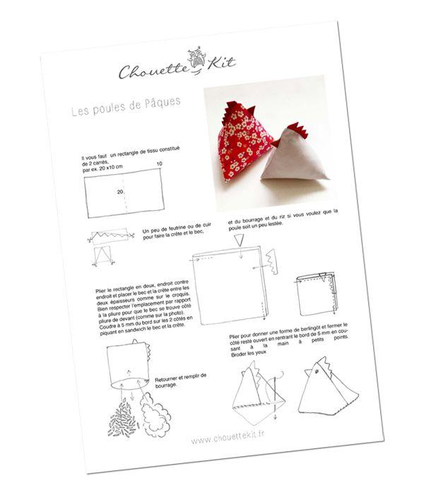 Chouette Kit | Hühner, Ostern und Nähen