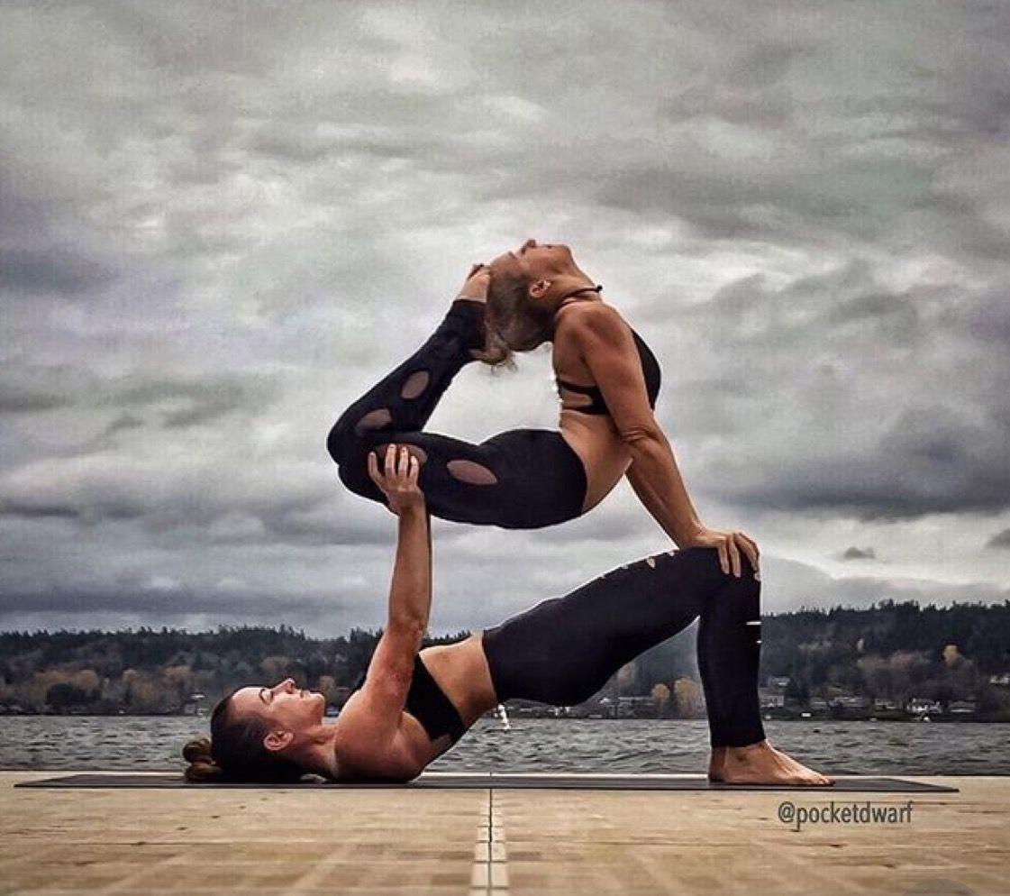 Couples Yoga Poses Pinterest