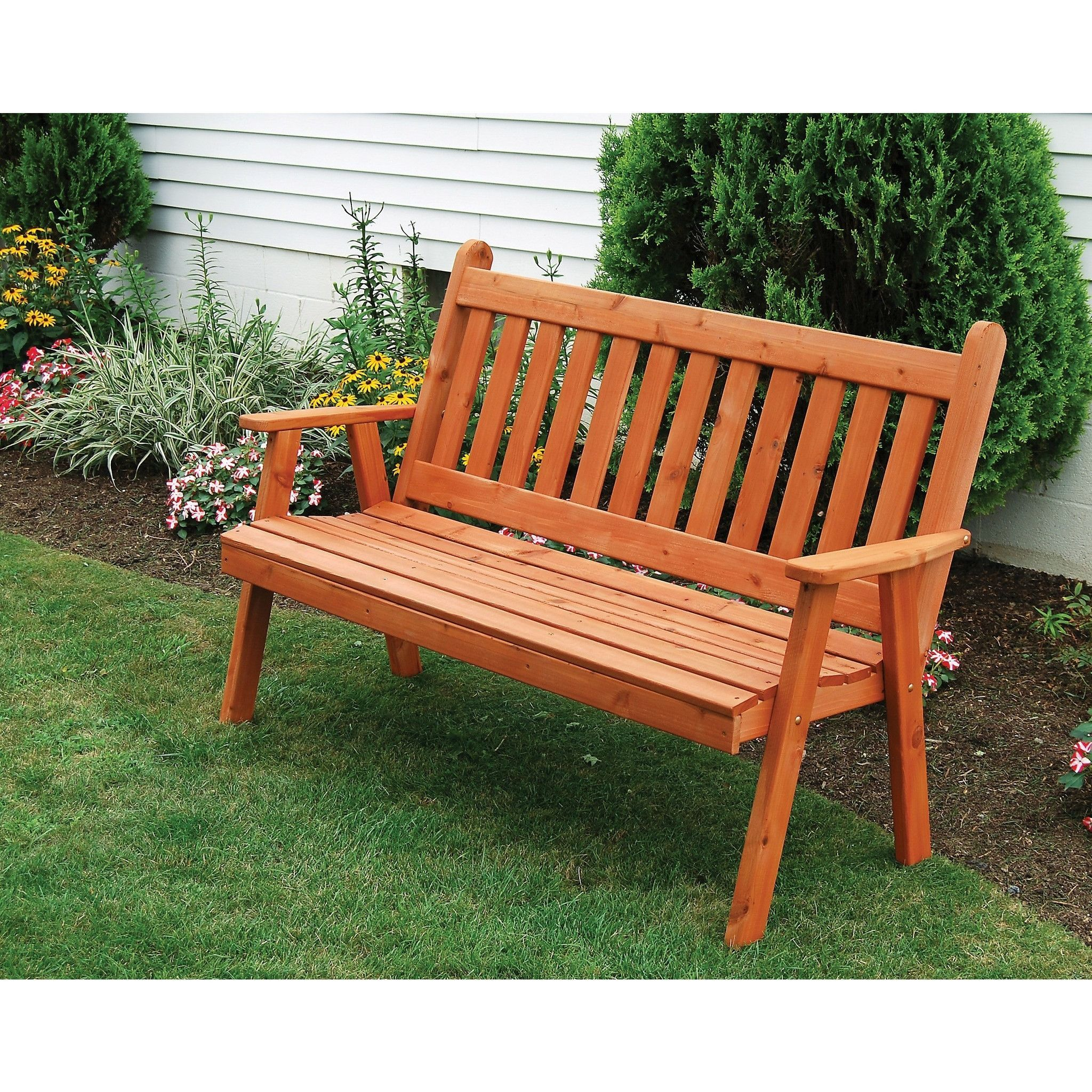 A traditional english garden bench