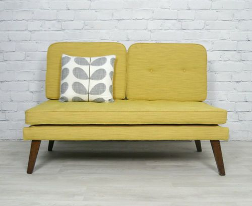 Broyhill Sofa RETRO VINTAGE MID CENTURY DANISH STYLE SOFA BED DAYBED EAMES ERA s s