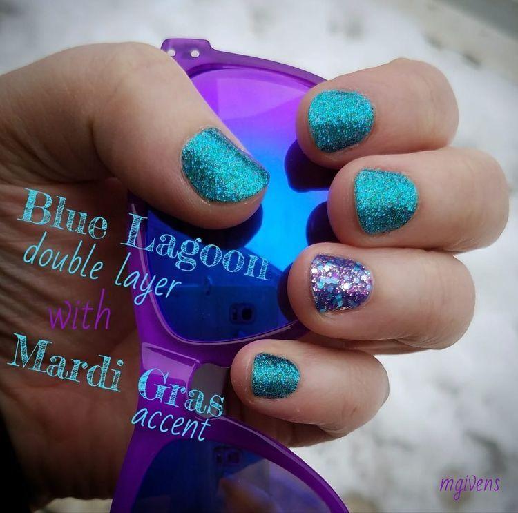Color Street Nail Polish Strips Blue Lagoon With Mardi Gras Color Street Nails Mardi Gras Nails Nail Polish