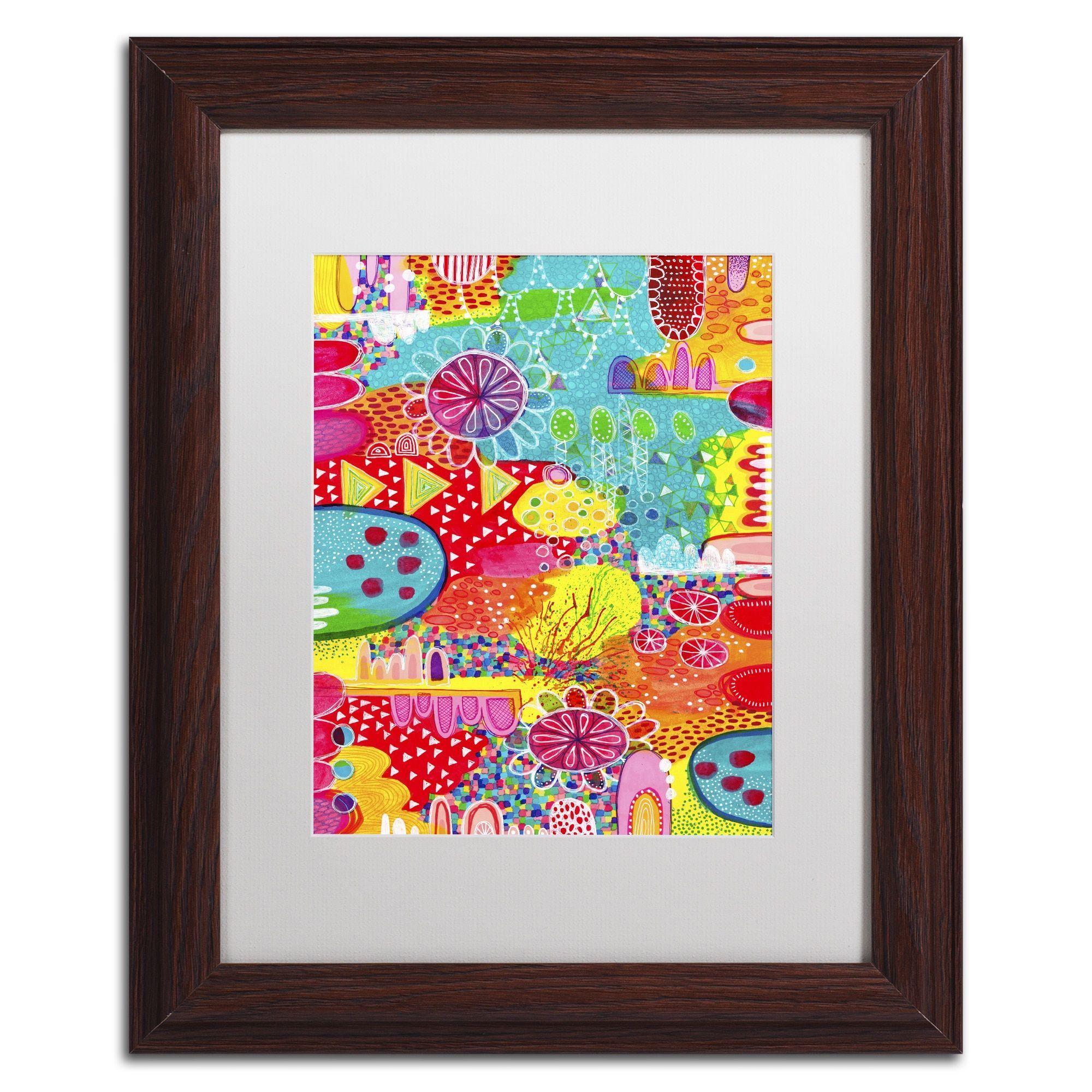 Hello Angel 'Sunshine and Lollipops' Matted Framed Art