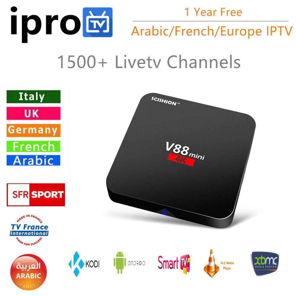 Smart Androd tv box avec 1500 + IPROTV Français Arabe IPTV