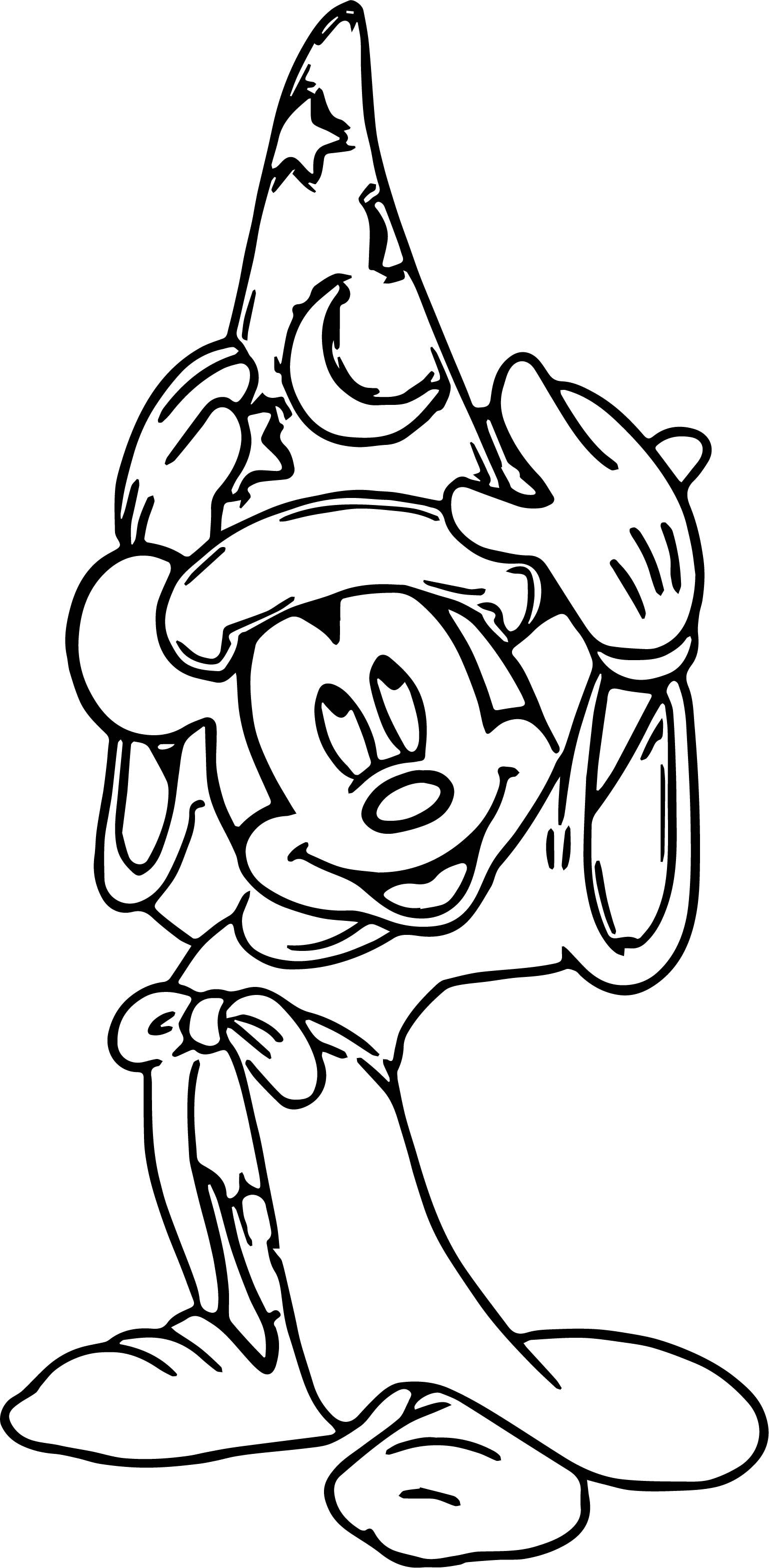 Nice Magic Mickey Mouse Hat Coloring Pages Mickey Mouse Hat