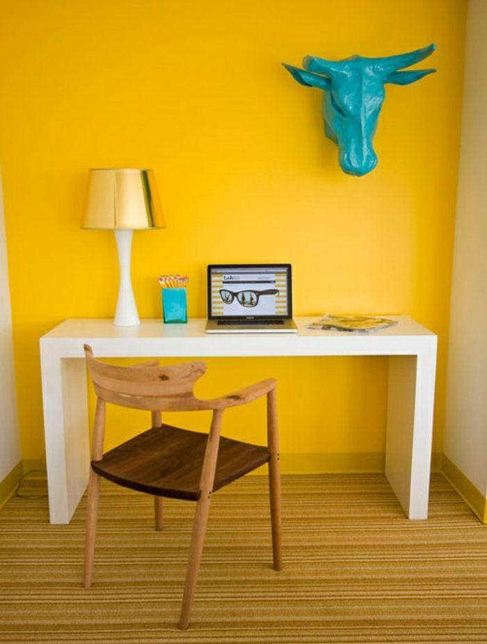 Farbgestaltung Wohnzimmer Wandgestaltung Wanddesign Heim Büro