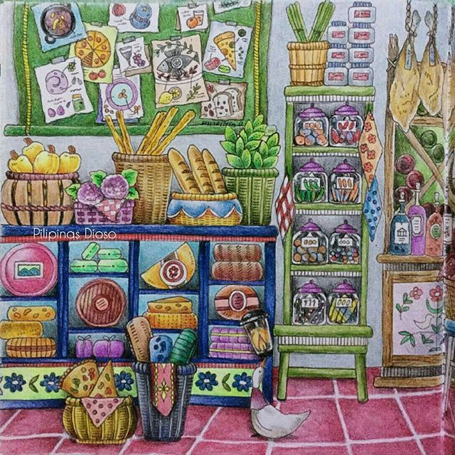 From Romantic Country 2 Coloring Book By Eriy Done With Colored Pencil