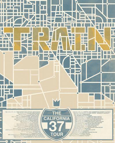 Train (California 37 Tour) Art Print