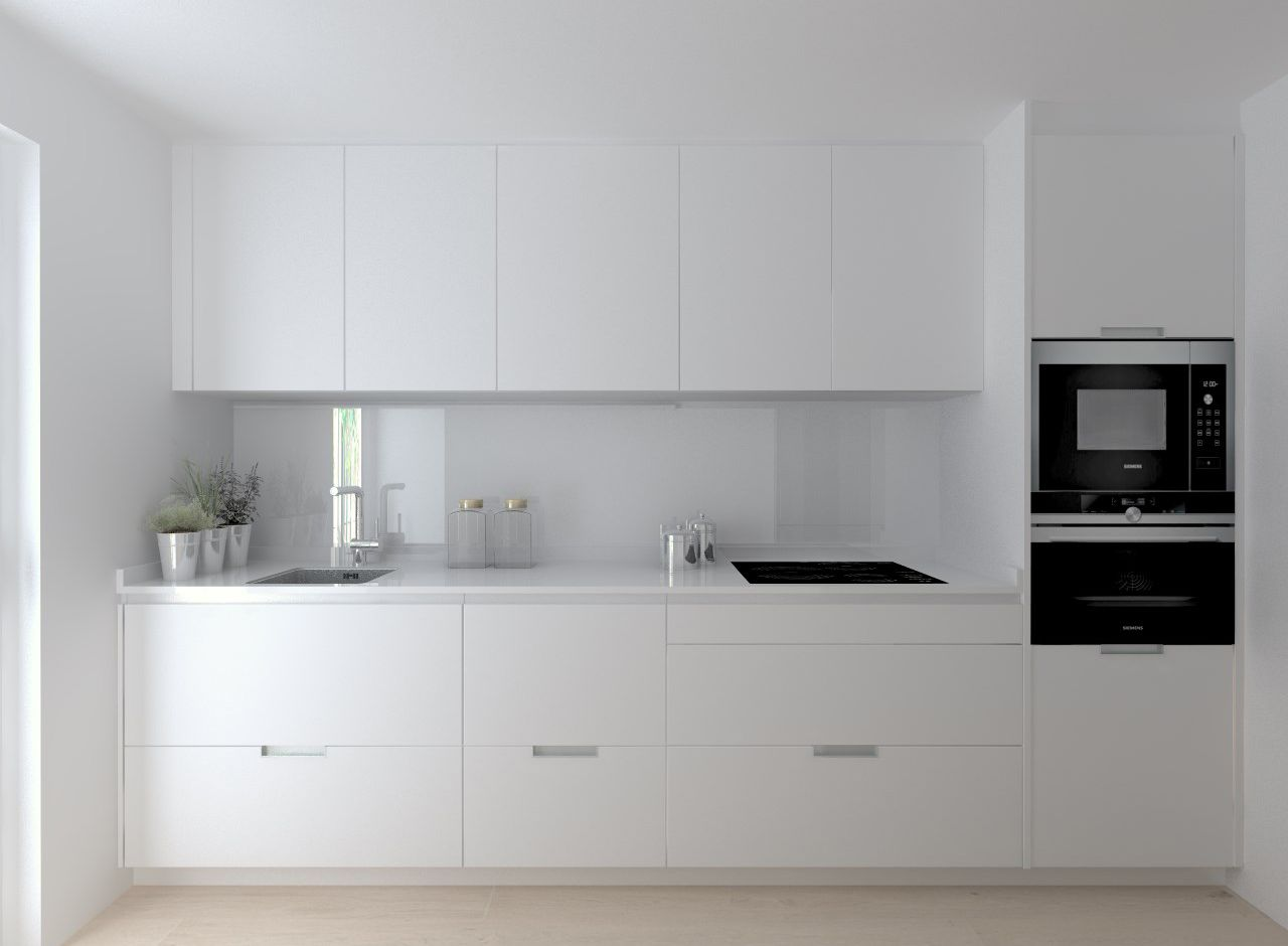Cocina santos modelo minos estratificado blanco encimera Muebles de cocina xey modelo alpina