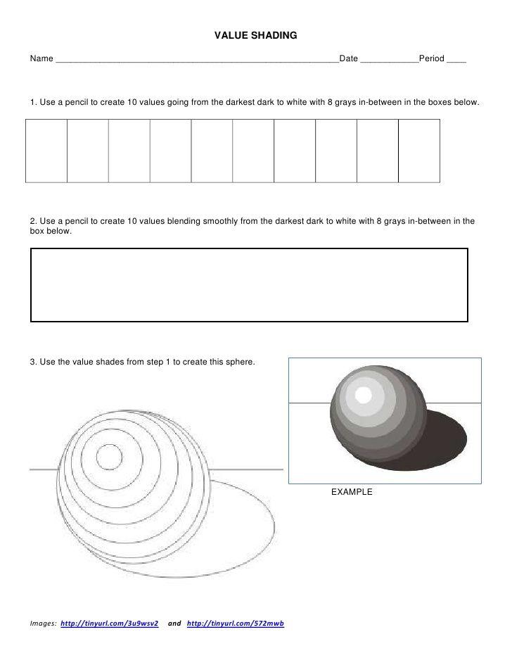 value shading worksheet by ksumatarted via slideshare art education pinterest worksheets. Black Bedroom Furniture Sets. Home Design Ideas