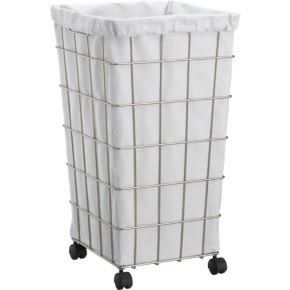 Metal Laundry Hamper Google Search Laundry Basket On Wheels