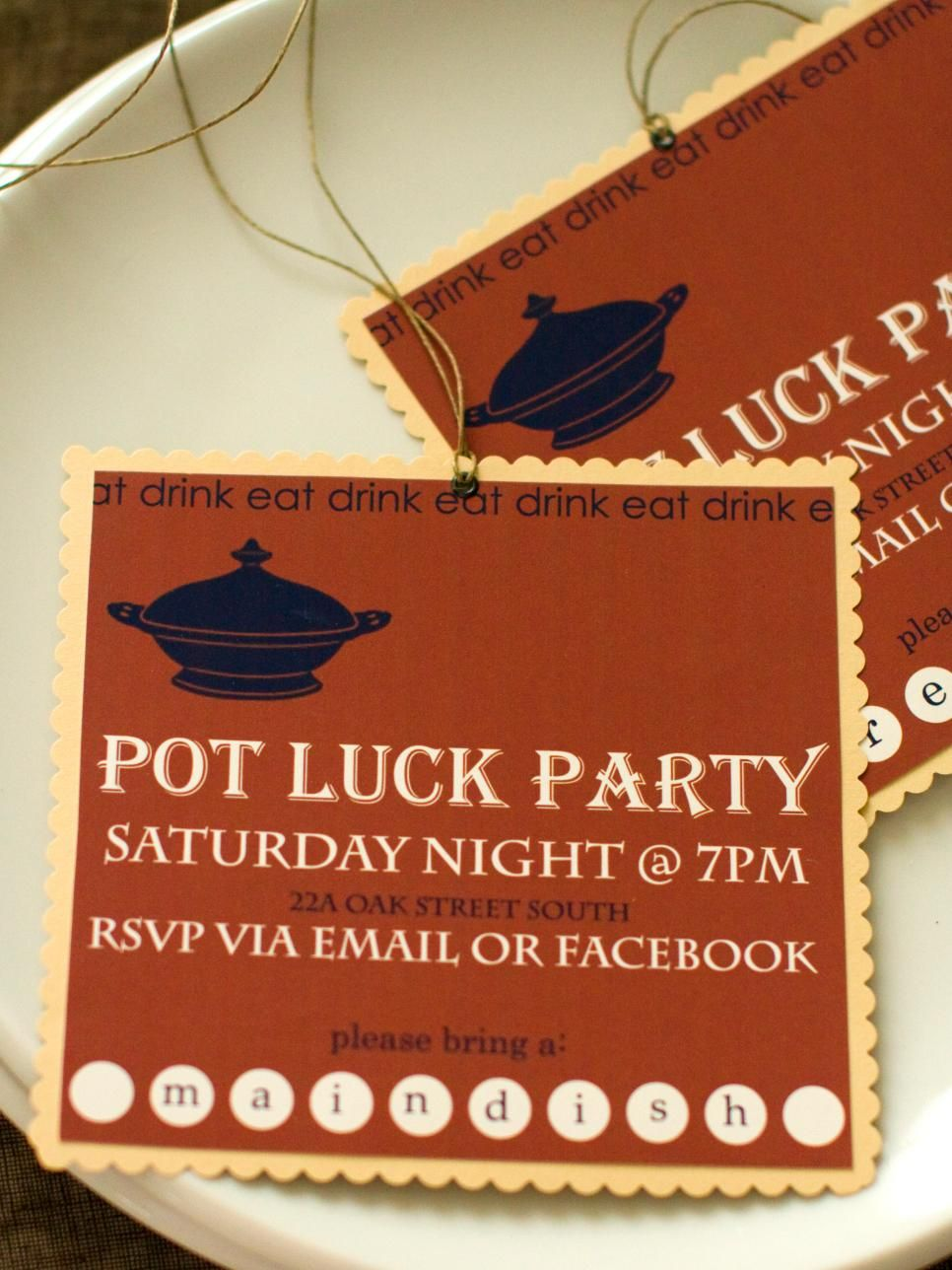 Potluck Dinner Party: Recipes, Decor and Entertaining Ideas   diy ...