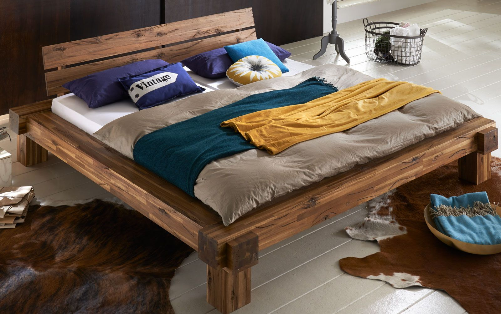 balkenbett - Google-haku | Sängyt | Bett, Bett holz und ...