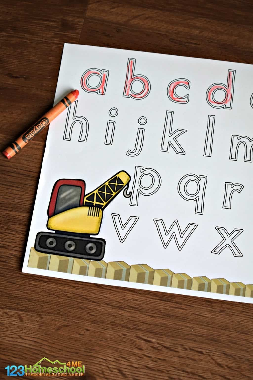 Construction Letter Tracing Tracing letters, Upper and