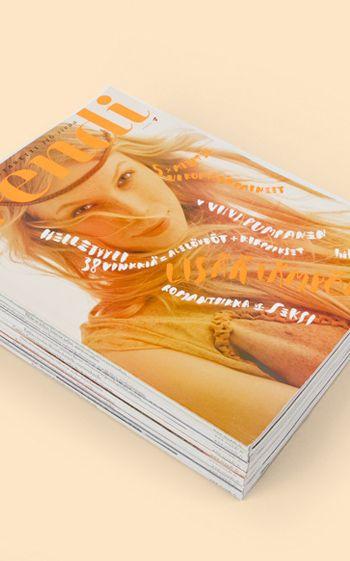 Selected subscriber covers Hand letteringLotta Nieminen  Photography Marko Rantanen