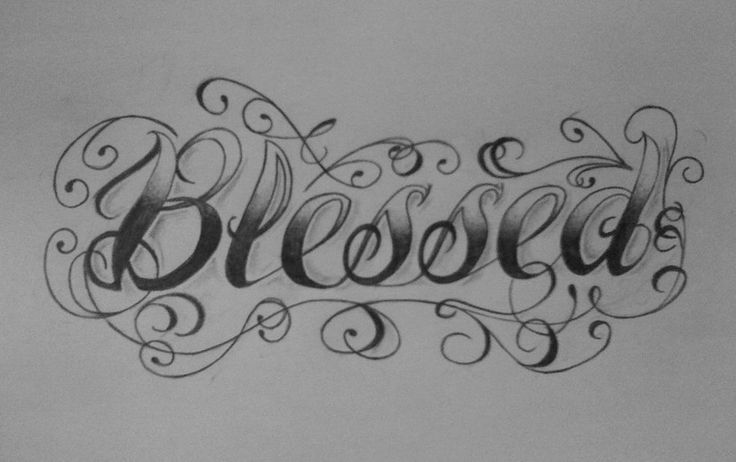 Pin By Josh Watson On Letters With Images Blessed Tattoos Chest Tattoo Words Unique Tattoos