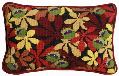 Black Conkers Lumbar Tapestry Kit Tapestry Kits