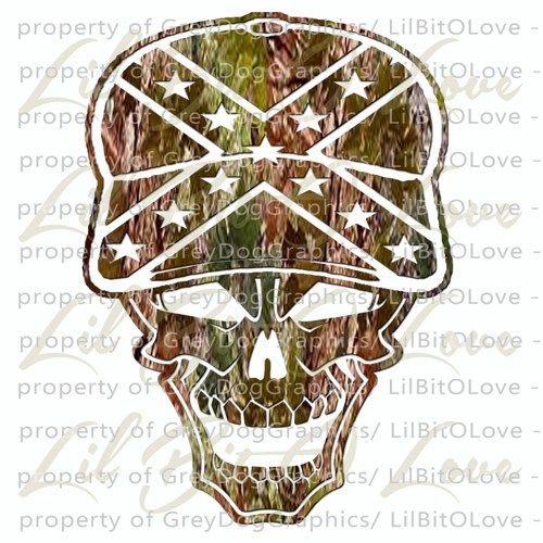 Camo Camouflage Redneck Skull Rebel Confederate Flag Cap Vinyl - Rebel flag truck decals   how to purchase and get a great value safely