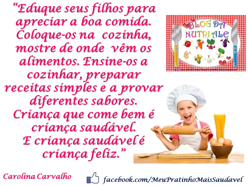 Extremamente NUTRIÇÃO INFANTIL - Nutricionista Alessandra Pires: Para  JM03