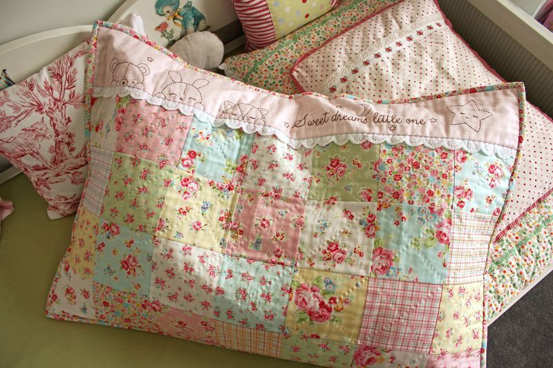 Sweet Dreams Little One Sewing Pillows Patchwork Pillow