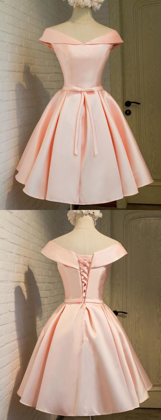 Blush Pink Prom Dress,Off the Shoulder Prom Dress,Fashion | Dream ...