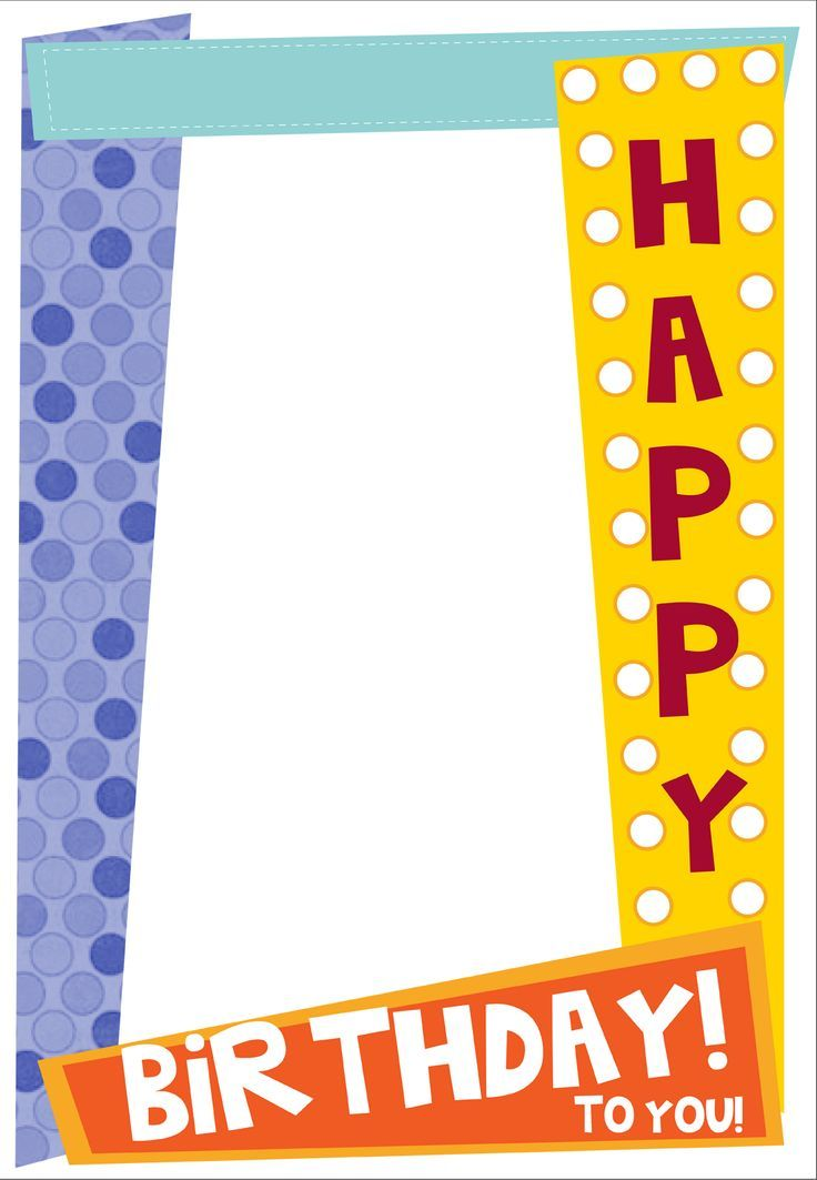 frame cumpleaños - Buscar con Google Vectores Cumple Pinterest - free birthday card printable templates