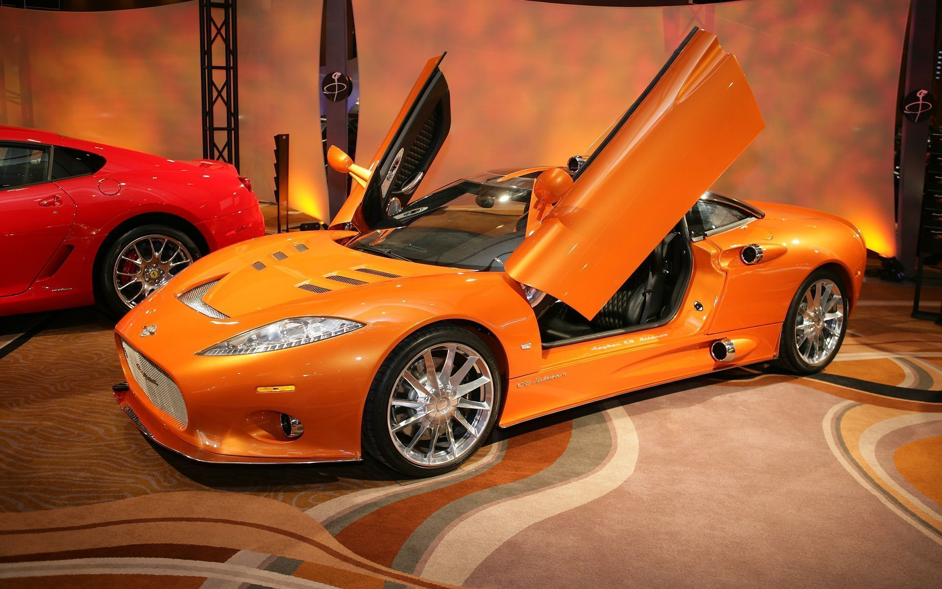 New spyker at mgm orange sports car wallpapers