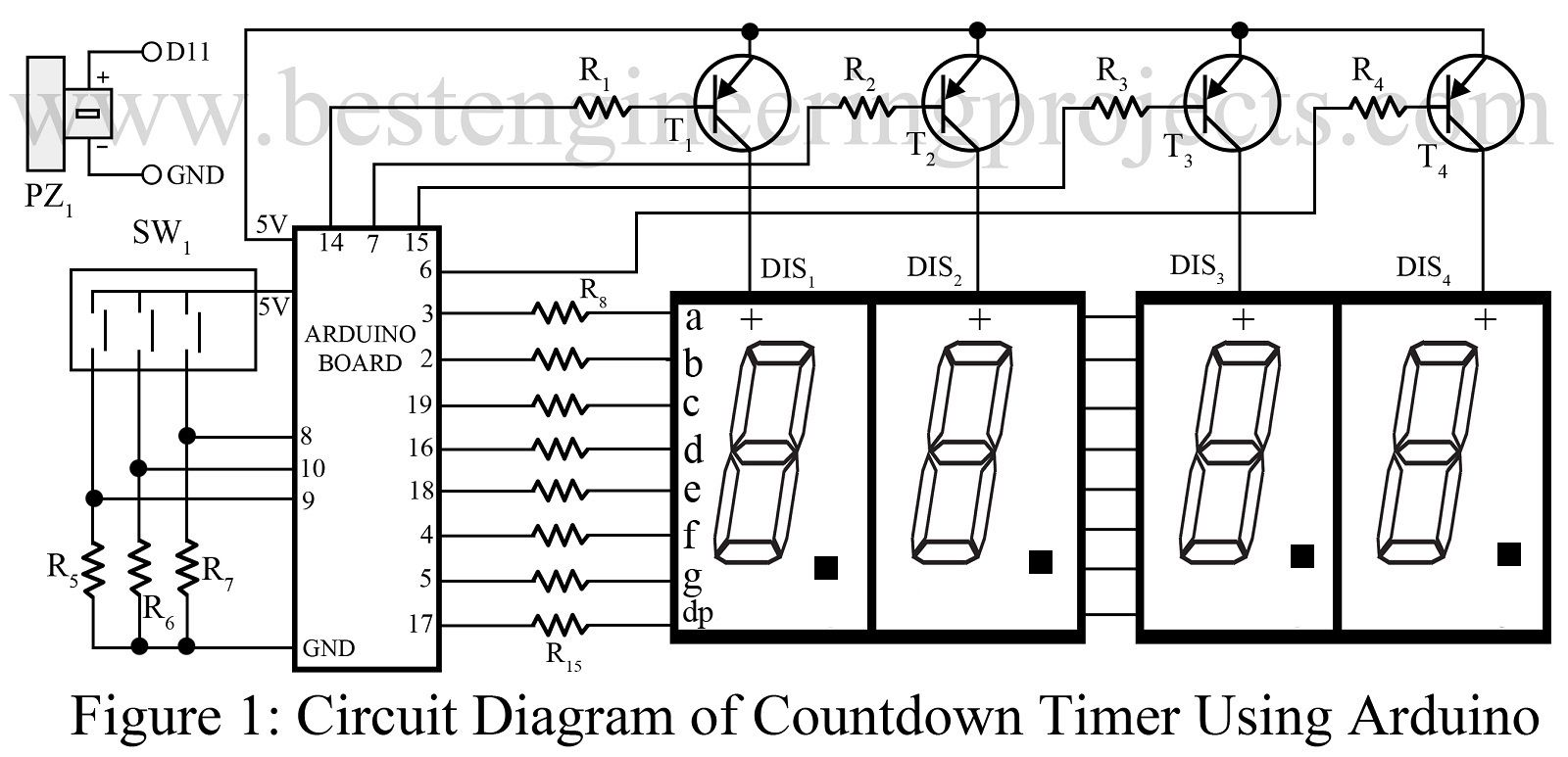 The Circuit Here Countdown Timer Using Arduino Is A Simple