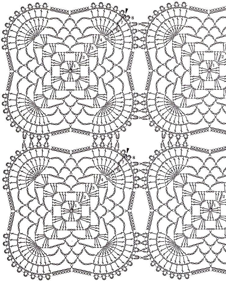 15. 블루도일리 / 아름다운 코바늘 모티브 테이블 센터 도안 | CROCHET ...