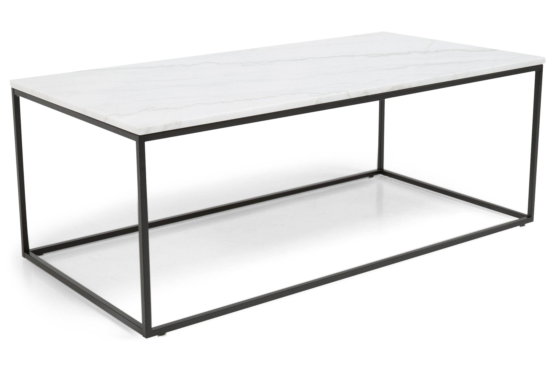 Carrie Sofabord Hvit Marmor Svart 120x60x45 cm 120x60x45 cm Stua Carry on, Table, Entryway
