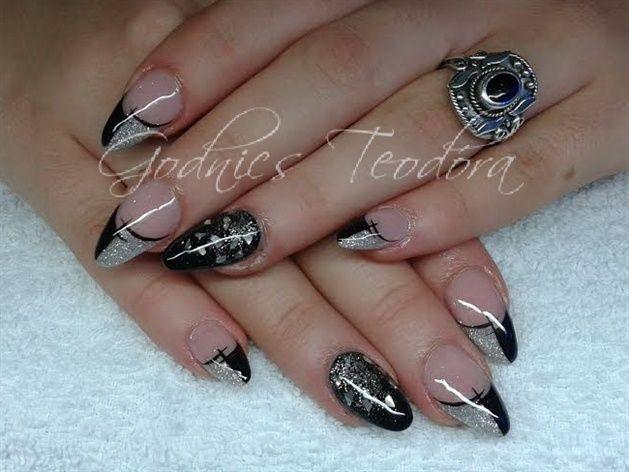 Black with silver by Teodora77 - Nail Art Gallery nailartgallery.nailsmag.com by Nails Magazine www.nailsmag.com #nailart