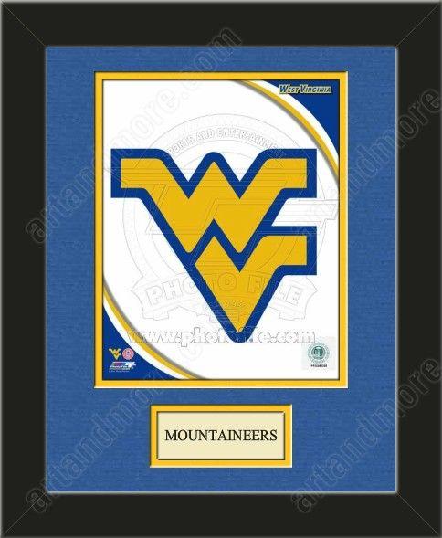 One Framed 8 X 10 Inch University Of West Virginia Photo Of West Virginia University Mountaineers Team Logo West Virginia Mountaineer Team Colors West Virginia